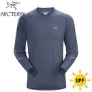 【ARC TERYX 始祖鳥 男 Motus 快乾長袖圓領衫《氣層藍》】18903/透氣/吸濕排汗/T恤/運動衫/跑步