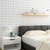 壁紙墻貼壁紙北歐宿舍裝飾客廳背景黑白格子臥室【不二雜貨】