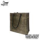 手提袋-編織袋(S)-黑金-03C