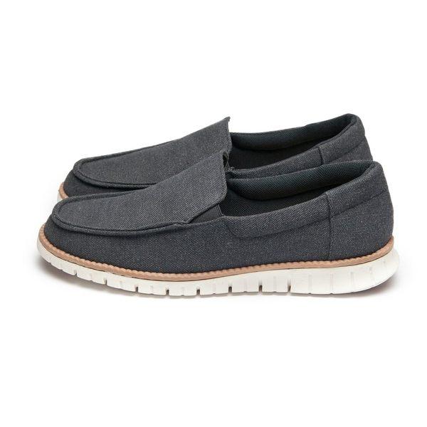 【富發牌】Casual百搭重磅帆布懶人鞋-黑/藍  2BA50