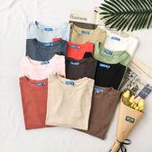 高棉質超狂12色寬版素色T桖-大尺碼 獨具衣格