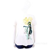 Max Mara-WEEKEND 創意塗鴉印花白色短袖T恤 1910309-A5