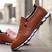 男士皮鞋 夏季新款男鞋夏季休閒皮鞋男韓版潮流休閒皮鞋 Mt2482『紅袖伊人』