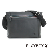 PLAYBOY- 下沉式斜背包 Gray系列-灰色