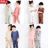 夏季薄款兒童睡衣男童女童空調服中大童家居服寶寶純棉小男孩套裝