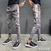 燈芯絨束腳哈倫褲 春新款潮流修身小腳休閒褲男士哈倫褲 BF22475『寶貝兒童裝』