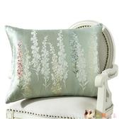 四季加厚歐式新中式沙發水墨畫靠墊抱枕 加大床上腰靠包靠背墊 HX3356【花貓女王】