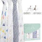 美國Aden+Anais 輕鬆抱寶寶包巾(四入裝) 繽紛獅子款2060