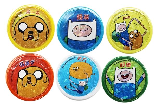 【卡漫城】 探險活寶 圓 印章 6入1組 ㊣版 玩具 集點 奬勵圖章 台灣製 Adventure Time 老皮 阿寶