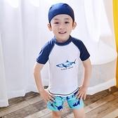 兒童泳衣男童分體小中大童泳褲套裝寶寶嬰幼兒男孩泳裝鯊魚游泳衣  夏季新品
