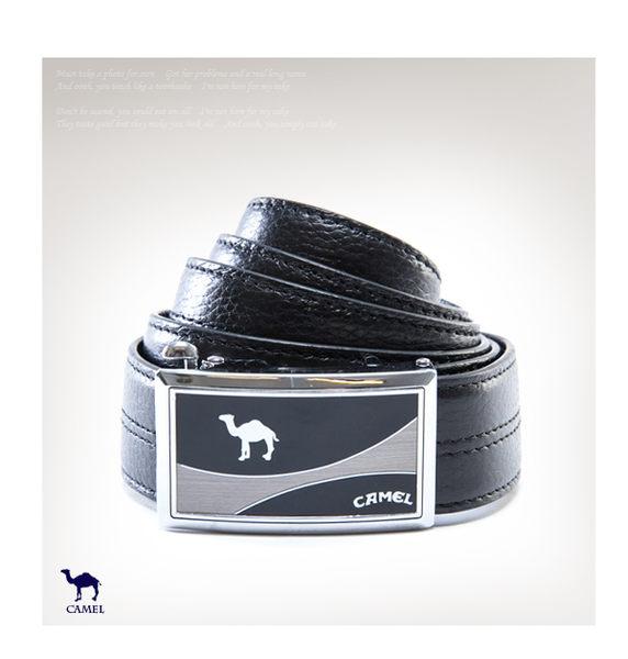 CAMEL - 高凡氣度款自動滑扣真牛皮皮帶