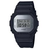 CASIO G-SHOCK 經典個性霧面銀鍍膜電子錶-黑X銀(DW-5600BBMA-1)