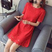 敬酒服新娘時尚禮服紅色連身裙