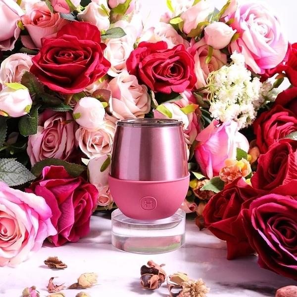 美國HYDY雙層隨行保溫杯-桑格莉亞-玫瑰金 240ML 蛋型杯 時尚杯 手拿杯 輕巧