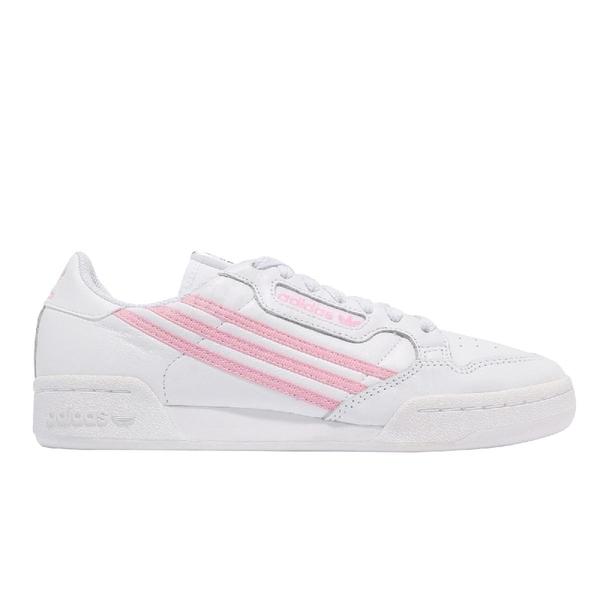 【海外限定】adidas 休閒鞋 Continental 80 W 白 粉紅 女鞋 愛迪達 三葉草 小白鞋 【ACS】 FX9046