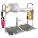 瀝水架 304不銹鋼碗架水槽瀝水架廚房置物架用品收納架水池晾放碗碟架子 快速出貨