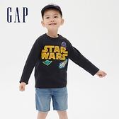 Gap男幼童 星球大戰主題圓領長袖T恤 617819-暗夜黑