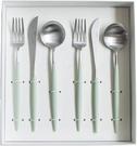 Cutipol【日本代購】葡萄牙 GOA系列餐具 青瓷/銀晚餐6件套