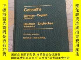 二手書博民逛書店【英文原版】凱塞爾德英詞典 Cassells罕見German-E