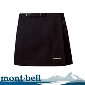 【Mont-Bell 日本 女 Stretch Od Wrap Shorts 褲裙《黑》】1105583/運動裙/防潑水/高彈性