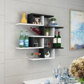 墻上置物架客廳墻壁掛墻面隔板擱臥室多層書架隔斷墻簡約現代裝飾父親節促銷 igo