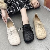 娃娃鞋 春款民族風單鞋女2021新款百搭奶奶鞋大頭娃娃鞋編織復古媽媽鞋潮 萊俐亞