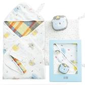 【奇哥】動物派對六層紗禮盒(包巾+方巾2入+安撫巾)