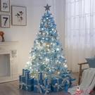 圣誕樹 圣誕節藍色植絨套餐1.5米1.8米2.1米3米落雪網紅樹ins【美人季】jy