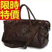 真皮行李袋-設計可肩背方便多功能男手提包1色59c29[巴黎精品]