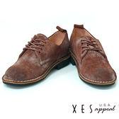 XES 休閒鞋 女鞋  特殊刷皮 全真皮  個性時尚鞋款  率性咖