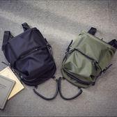 牛津布雙肩包女2018新款百搭正韓潮帆布學生書包男大容量旅行背包