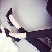 美特妮奧春秋新款女鞋 性感夜店尖頭高跟鞋 細跟婚鞋單鞋女工作鞋