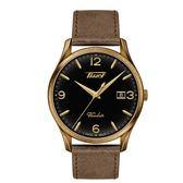 ◆TISSOT◆HERITAGE VISODATE 復刻簡約大三針石英皮帶腕錶 T118.410.36.057.00