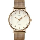 TIMEX/天美時 Fairfield 時尚 玫瑰金 手錶(TXTW2R26400)