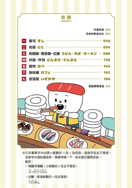看圖學日語!日本旅遊必備隨身食宴手冊