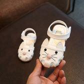 公主鞋 兒童涼鞋女童公主鞋包頭小孩夏季女寶寶1-3歲軟底可愛正韓時尚天2   免運