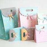 生日禮物禮品盒禮品袋自粘蝴蝶結簡約紙質紙袋子禮物包裝盒大號gogo購