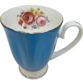 【波克貓哈日網】維多利亞風◇花茶杯◇《玫瑰圖案》藍