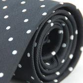【Alpaca】黑底白圓點領帶