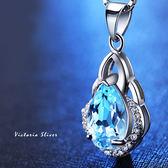 S925銀 優雅的名媛氣質大方設計感 托帕石項鍊-維多利亞180874