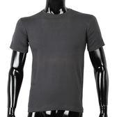 BURBERRY 紳士透氣排汗短袖棉質上衣(灰黑色)085131-8