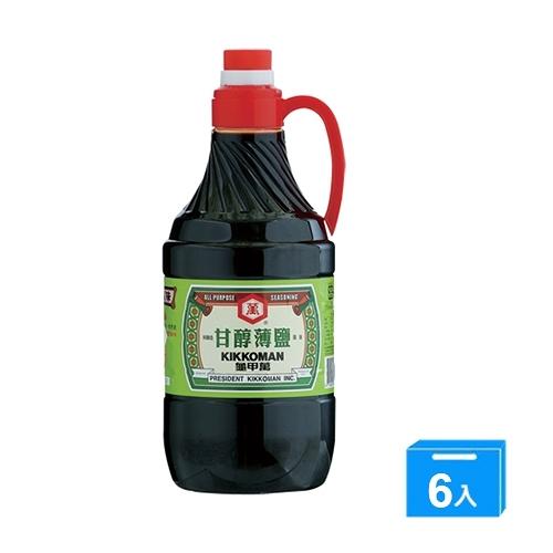 統一龜甲萬甘醇薄鹽醬油1600ML*6【愛買】