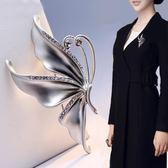 時尚正韓高檔百搭珍珠蝴蝶孔雀胸針別針水晶韓式胸花女配飾披肩扣 最後一天85折
