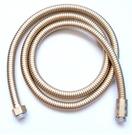 土豪金不鏽鋼淋浴電鍍水管1.5米 加粗加厚花灑加壓蓮蓬頭專用(2色可選)