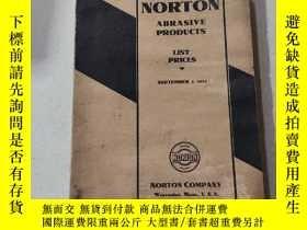 二手書博民逛書店NORTON罕見ABRASIVE PRODUCTS:諾頓磨料產品Y212829