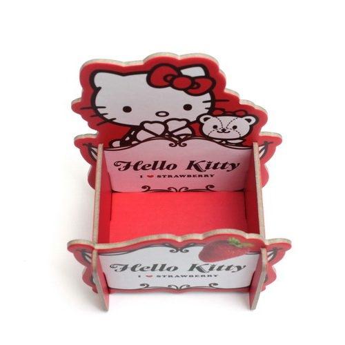 【[金玉堂文具】Hello Kitty 草莓置物架 粉紅 紅色 收納盒 筆筒 手機座
