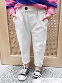網紅女童裝夏裝超洋氣寶寶米色小童兒童秋裝老爹褲白色休閒褲子潮 韓慕精品
