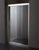 【麗室衛浴】新款連動門 B-001-8 無邊框一字三拉淋浴拉門8MM強化玻璃(120CM以內)