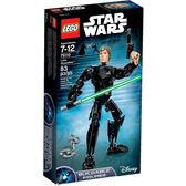 【LEGO 樂高積木】星際大戰 組裝戰士系列 - Luke Skywalker LT-75110