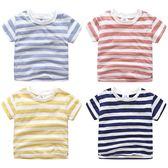 618好康鉅錬條紋圓領兒童短袖T恤-4色